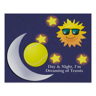 TOP Day Night Tennis Poster