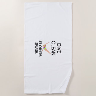 TOP Dive Clean Beach Towel