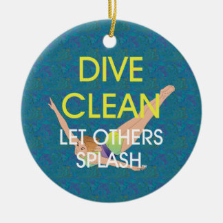 TOP Dive Clean Ceramic Ornament