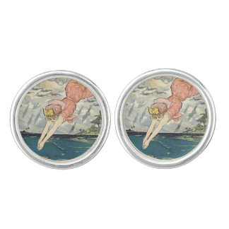 TOP Dive Girl Cuff Links