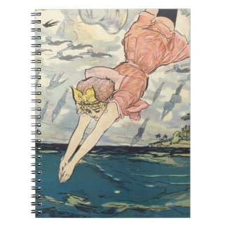 TOP Dive Girl Spiral Notebook