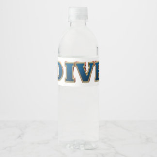 TOP Dive Water Bottle Label