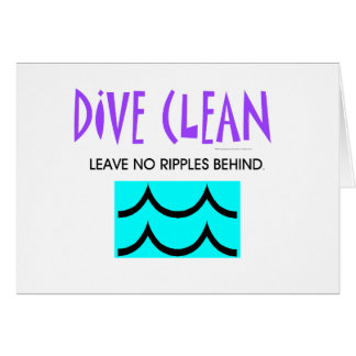 TOP Diving No Ripples Card