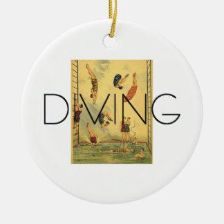 TOP Diving Old School Ceramic Ornament