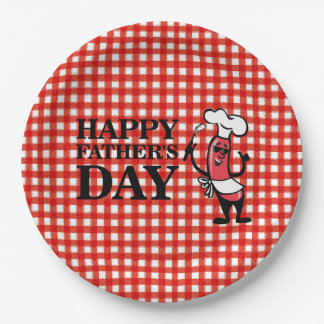 Top Dog Father's Day Party Paper Plates