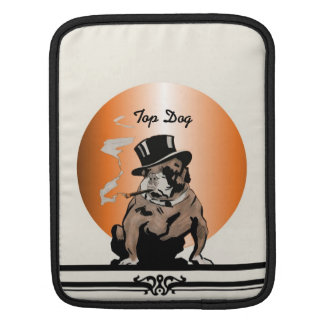 Top Dog Vintage Bulldog with Cigar and Top Hat iPad Sleeves