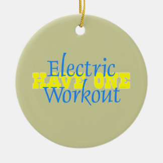 TOP Electric Workout Ceramic Ornament