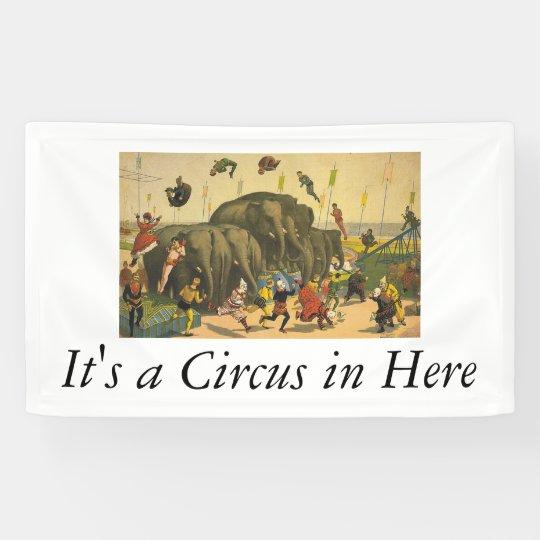 TOP Elephant Acrobats Banner