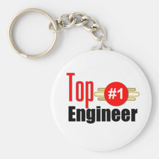 Top Engineer Basic Round Button Keychain