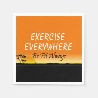 TOP Exercise Everywhere Paper Napkins