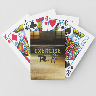 TOP Exercise Slogan Bicycle Playing Cards