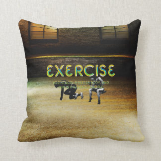 TOP Exercise Slogan Throw Pillow