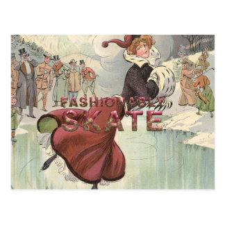 TOP Fashionably Skate Postcard