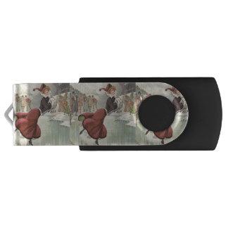 TOP Fashionably Skate Swivel USB 2.0 Flash Drive