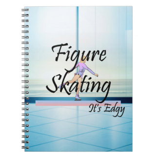 TOP Figure Skating It's Edgy Spiral Notebook