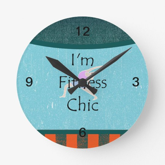 TOP Fitness Chic Clock