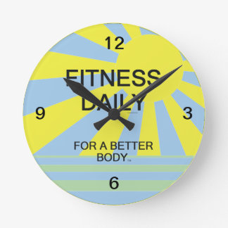 TOP Fitness Daily Round Clock