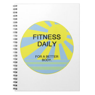 TOP Fitness Daily Spiral Notebook