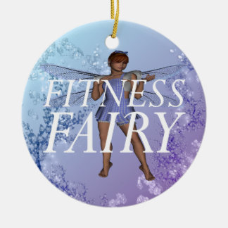 TOP Fitness Fairy Ceramic Ornament