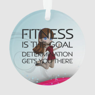 TOP Fitness Goal Ornament