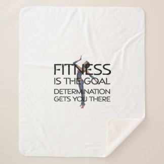 TOP Fitness Goal Sherpa Blanket