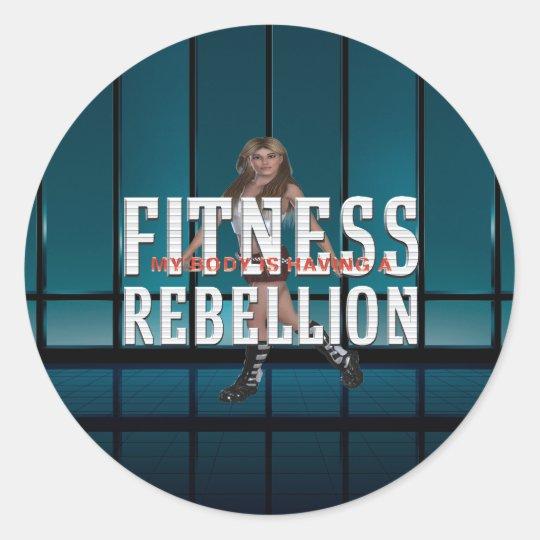 TOP Fitness Rebellion Classic Round Sticker