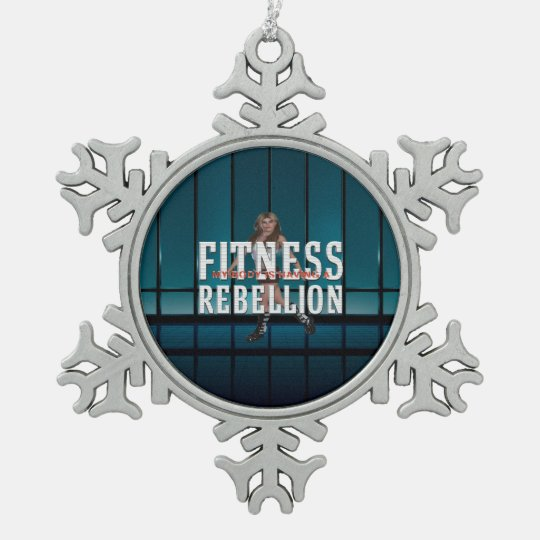 TOP Fitness Rebellion Pewter Snowflake Ornament