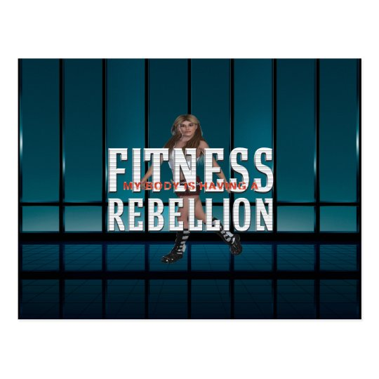 TOP Fitness Rebellion Postcard