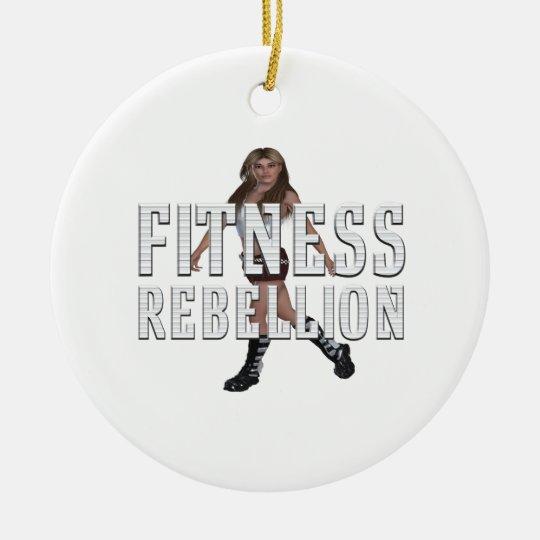 TOP Fitness Rebellion Round Ceramic Ornament