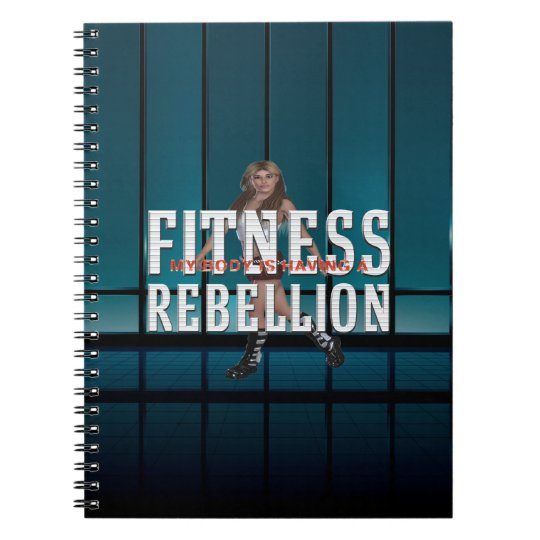TOP Fitness Rebellion Spiral Notebook