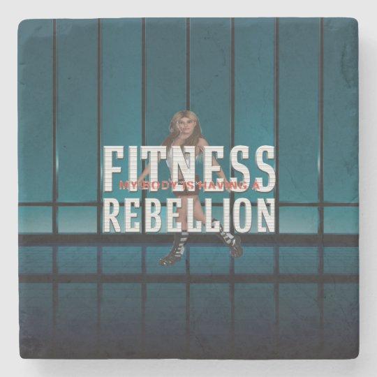 TOP Fitness Rebellion Stone Beverage Coaster