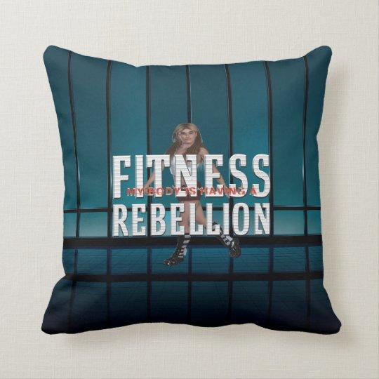 TOP Fitness Rebellion Throw Pillow
