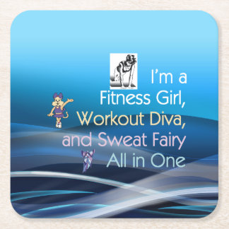 TOP Fitness Triple Play Square Paper Coaster