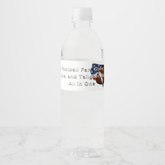 TOP Football All in One Water Bottle Label