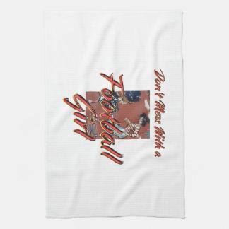 TOP Football Girl Kitchen Towel