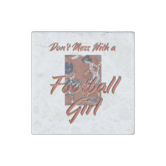 TOP Football Girl Stone Magnets