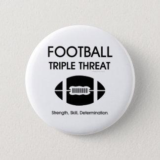 TOP Football Triple Threat 2 Inch Round Button