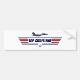 Top Girlfriend Logo Bumper Sticker