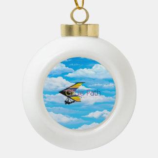 TOP Glide Path Ceramic Ball Christmas Ornament