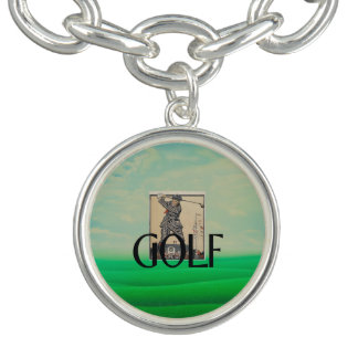 TOP Golf Old School Charm Bracelets
