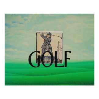 TOP Golf Old School Poster