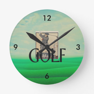 TOP Golf Old School Wall Clock