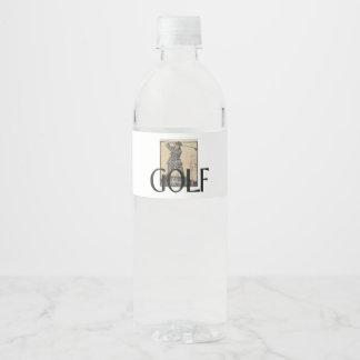 TOP Golf Old School Water Bottle Label