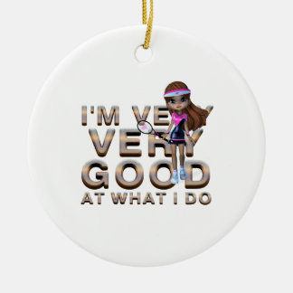 TOP Good at What I Do, Tennis Ceramic Ornament
