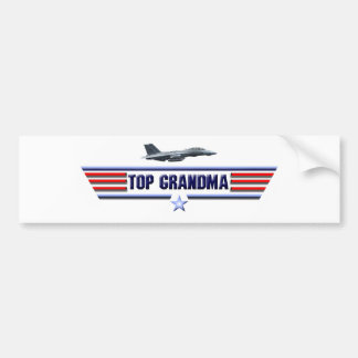 Top Grandma Logo Bumper Sticker