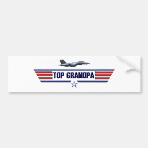 Top Grandpa Logo Bumper Sticker