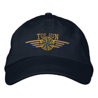 Top Gun Northern Star Compass Pilot Wings Embroidered Baseball Cap