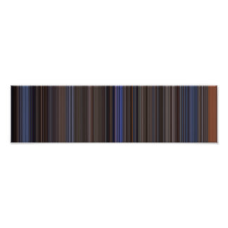 Top Gun panoramic movie barcode Poster