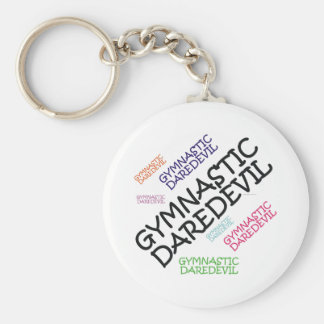 TOP Gymnastics Daredevil Basic Round Button Keychain