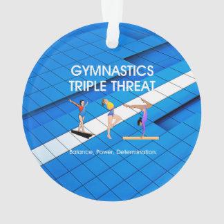 TOP Gymnastics Triple Ornament